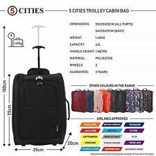 5 Cities Cabin 55x40x20cm bolsa Trolley equipaje de mano adecuadas 42 litros