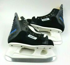 New - Pair Of Bauer Charger Black Ice Hockey Ice Skates Youth - Size: 3Dd
