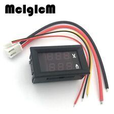 """86001DC 0-100V 10A Digital Voltmeter LED Blue Red 0.28"""" Gauge Volt Amp Panel"""