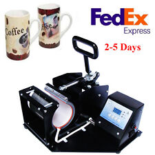 Double Digital Display Heat Press Transfer Sublimation Machine F/ Coffee Mug Cup