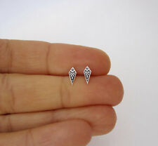 925 sterling silver small ornate geometric stud earrings