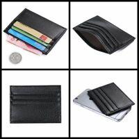 Men Fashion Leather Slim Credit Card Holder Mini Wallet ID Case Purse Bag Pouch