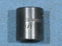 """Vintage CORNWELL 1/2"""" SAE 6pt 3/8"""" Drive Impact Socket P-2216 Made in USA"""