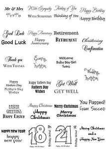Woodware Clear Magic Singles Stamps - Christmas - Birthday - Anniversary - Baby