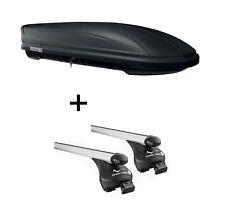 Dachbox MAA400L matt + Relingträger Quick L für Volvo XC90 ab 15