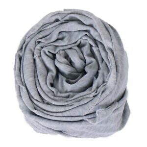 Women's Cotton Jersey Hijabs Scarf Shawls Solid Color Muslim Head Scarves Soft