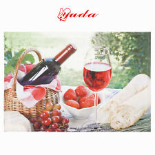 6Pcs Placemats Printed Red Wine Placemat 33 x 48 cm Table Mats Dining Pad Mat