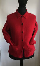 Ladies Red Jacket/ Cardigan  By Lands End Size 14 In Superb Condition