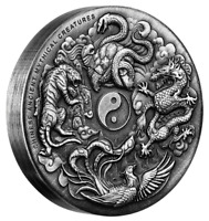 2016 Ancient Mythical Creatures 2oz Silver High Relief Antiqued Coin
