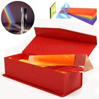 6'' Optical Glass Triple Triangular Prism in Box Physics Teaching Light Spectrum