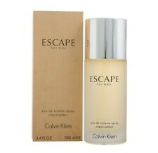 CK ESCAPE * Calvin Klein 3.4 oz / 100 ml Eau De Toilette EDT Men Cologne Spray