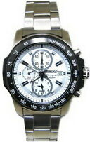 Seiko Chronograph 100m Stainless Steel Men's Watch SNAD13P1