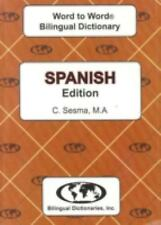 English-Spanish & Spanish-English Word-to-Word Dictionary: Suitable for Exams E