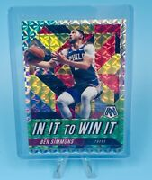 Ben Simmons 2019-20 Panini Mosaic IN IT TO WIN IT Silver Mosaic Prizm 76ers HOT