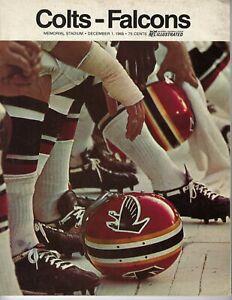 1968 12/1 football program Atlanta Falcons v Baltimore Colts GOOD