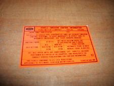 1972 FORD GALAXIE THUNDERBIRD LTD BROUGHAM 400 CID V8 ENGINE EMISSIONS DECAL
