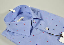 Camicia Ingram Slim Fit Azzurra Fil Coupè Shirt Ingram Made in Italy outlet