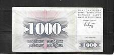 New ListingBosnia & Herzegovina #15a 1000 Dinara Vf Circulated Old Banknote Paper Money