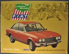 1973 Fiat Sports Brochure 850 124 Sport Spider 128SL Coupe Excellent Original 73