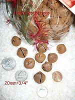 "Rusty Jingle Bells 120 pcs QUALITY METAL 20mm  3/4"" Primitive Christmas Crafts"