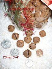 "Rusty Jingle Bells 144 pcs THICK HEAVY QUALITY METAL 20mm  3/4"" Primitive"