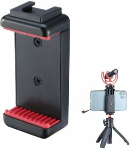 Phone Tripod Mount with Cold Shoe Mount Microphone Holder Clipper For VlogTripod