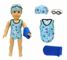 Doll Clothes Swimsuit Set Outfit Fits 18
