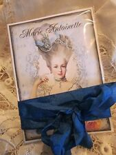 ~ BEAUTIFUL Marie Antoinette Note CARDS 4 ~ RIBBON ~