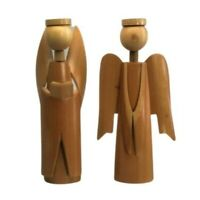 Pair of Wooden Bamboo Choir Angels Made in Korea ~ Wooden Angels Vintage
