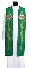 Green Gothic Clergy Stole SH539-Z Vestment Étole Verte Grün Stola Verde Estola