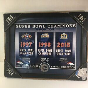 Denver Broncos NFL The Highland Mint Super Bowl Champions Banner Collection Coin