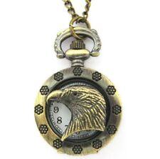 AQUILA Orologio da Tasca con Catenella Catena color oro antico TESTA VINTAGE