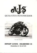 AJS - Motorräder Programm  -  Prospekt - 1960 -  Deutsch - nl-Versandhandel