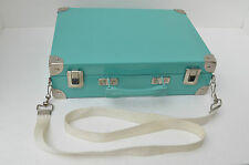 "Vintage Green Tin Suitcase Pierre Henry Made in France  13.5""W x 9.75""H x3.5""D"
