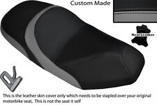 BLACK & GREY CUSTOM FITS SYM JOYRIDE 125 200 EVO DUAL LEATHER SEAT COVER ONLY