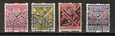 Roltanding R 78 - 81 used 1927 NVPH Nederland Netherlands SYNCOPATED PER PIECE