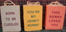 Miniature paper bags for Easter, set of 3, 1 1/2'' tall