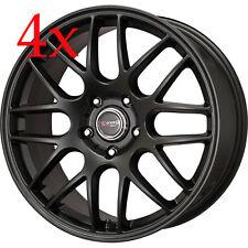 Drag Wheels DR-37 16x7 4x100 +25 Flat Black Rims For Civic Corolla Miata 240sx
