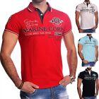 Uomo Camicia di polo manica corta T-shirt ricamata Golf tratto Sportivo casual
