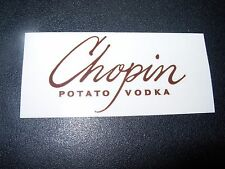 CHOPIN VODKA Br Rectangle Logo STICKER decal craft beer brewing brewery