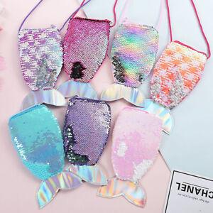 Women Mermaid Tail Sequins Coin Purse Girls Money  Holder Wallet  Kids Gifts