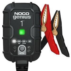 Caricabatterie 6V e 12V Intelligente Automatico a 4 banchi e 8A 2 per Banca mantenitore di Carica e desolfatore di batterie con compensazione della Temperatura NOCO GENIUS2X4