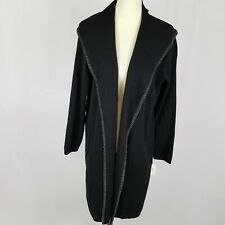 Style & Co womens duster coat size XL black open front new