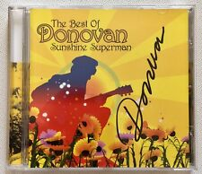 DONOVAN - THE BEST OF SUNSHINE SUPERMAN  HAND SIGNED CD AUTOGRAPHED