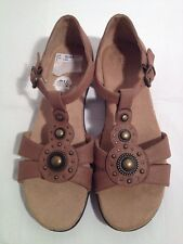 Nautralizer Brown Strappy Sandals Padded Insole Size 8-1/2M (A15)