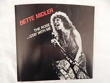 """BETTE MIDLER  """"The Rose"""" PICTURE SLEEVE! BRAND NEW! ONLY NEW COPY ON eBAY!"""