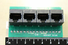 4 port patch panel module for Cat6 cable - Connectix 00C-001-001-24BP Ref:SY2201