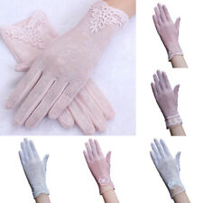 Protective Gloves Sun Anti UV Summer Driving Lace Thin Touch Screen For Women UK