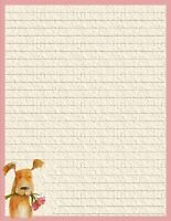 """Fun Dog Lined Stationery 8.5""""X11"""" 25 sheets & 10 color coordinated envelopes"""