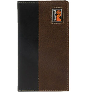 Timberland Pro Leather Wallet Men's Long Bifold Ellet Rodeo Wallet with RFID